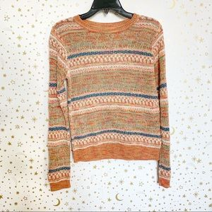 Anthropologie | Sparrow Colorful Woven Sweater